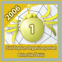 Altın Örümcek Web Ödülleri Sivil Toplum Organizasyonları Kategorisinde 1.
