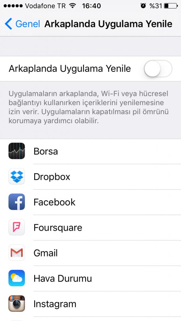 iphone-arkaplanda-uygulama-yenileme